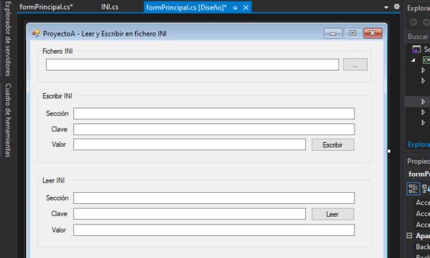 Leer y escribir en ficheros INI con Visual Studio .NET C Sharp