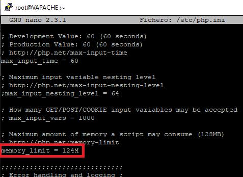 Ampliar límite de memoria para PHP desde la línea de comandos
