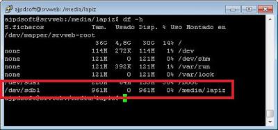 Cómo conectar un pendrive a Linux Ubuntu Server 11.04 manualmente