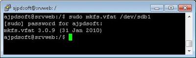 Formatear pendrive o lápiz de memoria USB en Linux Ubuntu Server