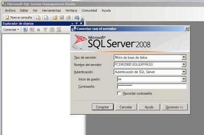 Instalar Microsoft SQL Server 2008 Express x64 en Windows Server 2008 x64
