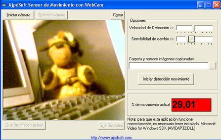 AjpdSoft Sensor de Movimiento con WebCam Código fuente Delphi