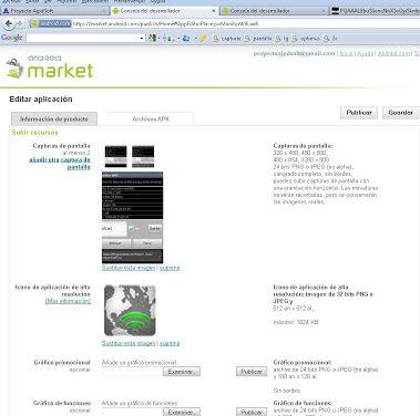 Publicar aplicación Android en Google Android Market, obtener beneficios