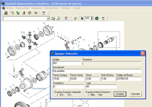 AjpdSoft Reparaciones y despieces Código Fuente Delphi 6