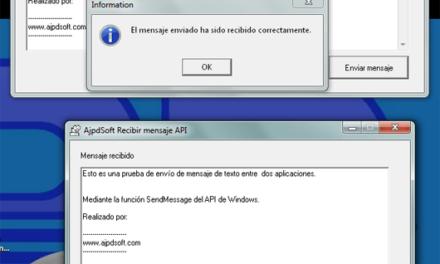Cómo enviar mensajes entre aplicaciones Delphi mediante el API de Windows