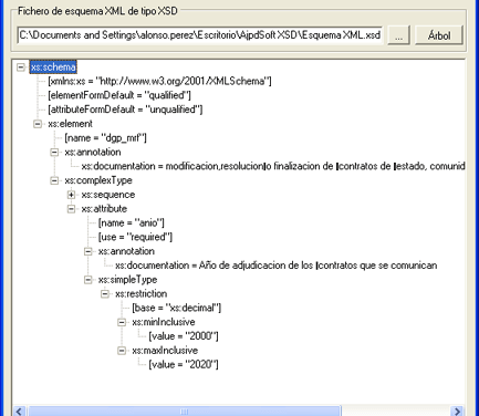 AjpdSoft Esquema XML Tree Código Fuente Delphi 6