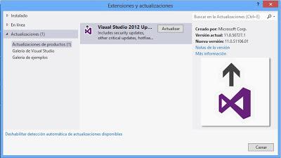 Instalar Microsoft Visual Studio .Net Ultimate 2012 en un equipo con Windows 8