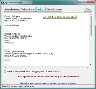 AjpdSoft Keylogger Código Fuente Delphi 6