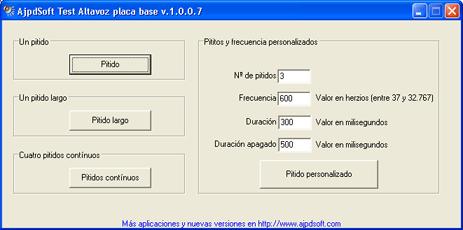 AjpdSoft Test Altavoz placa base Código Fuente Delphi 6