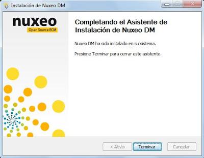 Nuxeo Document Manager DM Open Source, instalar Nuxeo en Windows 7