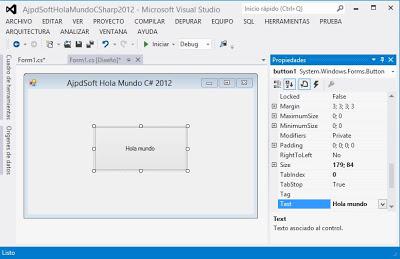 Instalar Visual Studio .Net 2012 Windows 8, primera aplicación CSharp