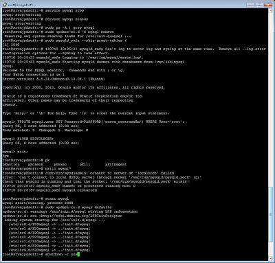 Restablecer, recuperar, cambiar contraseña superusuario root de MySQL en Linux Ubuntu Server: Método 1