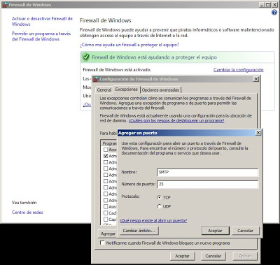 Cortafuegos, firewall, router, apertura y redirección de puertos para MDaemon