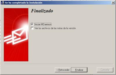 Instalar MDaemon 13.5.1 en un equipo con Windows Server 2008, montar servidor de correo electrónico
