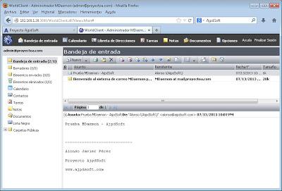 Administración de MDaemon Messaging Server