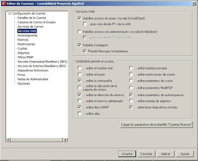 Crear cuenta de correo electrónico en servidor MDaemon