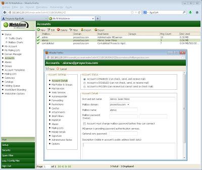 Administración web (WebAdmin) de MDaemon