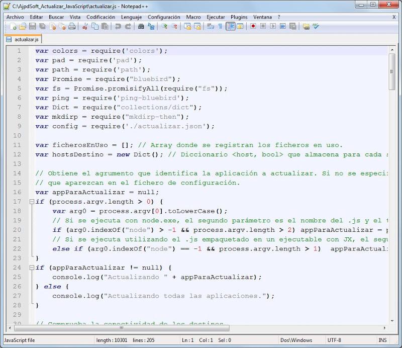 Código JavaScript para copiar carpetas a varios destinos de forma asíncrona