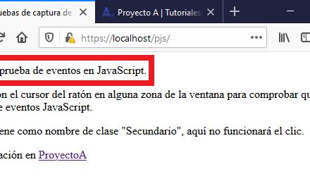 Uso de eventos y selectores en JavaScript