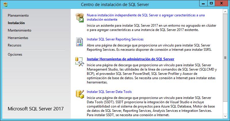 Instalar SQL Server Management Studio, crear base de datos y tabla