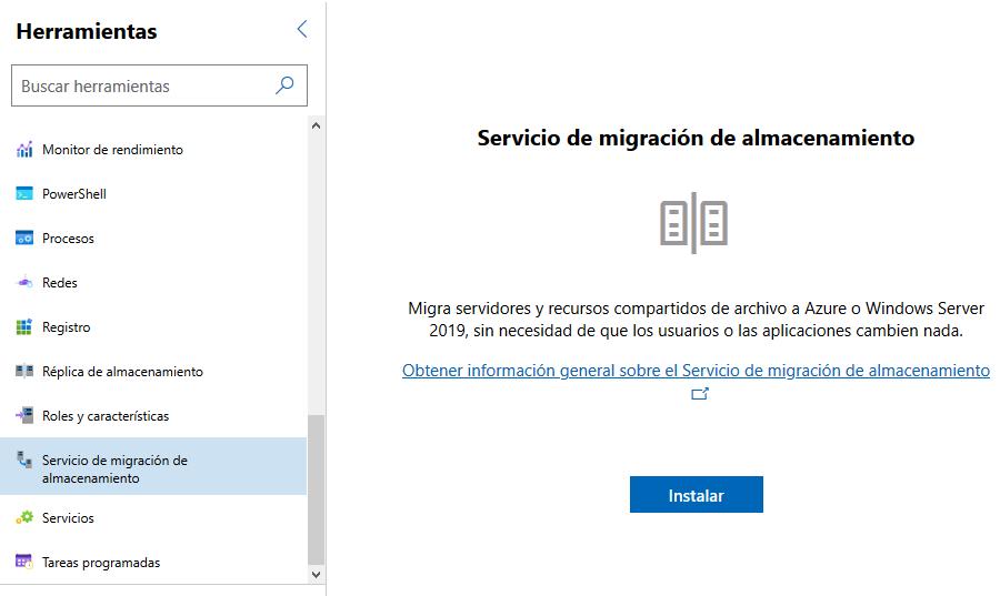 Servicio de migración de almacenamiento
