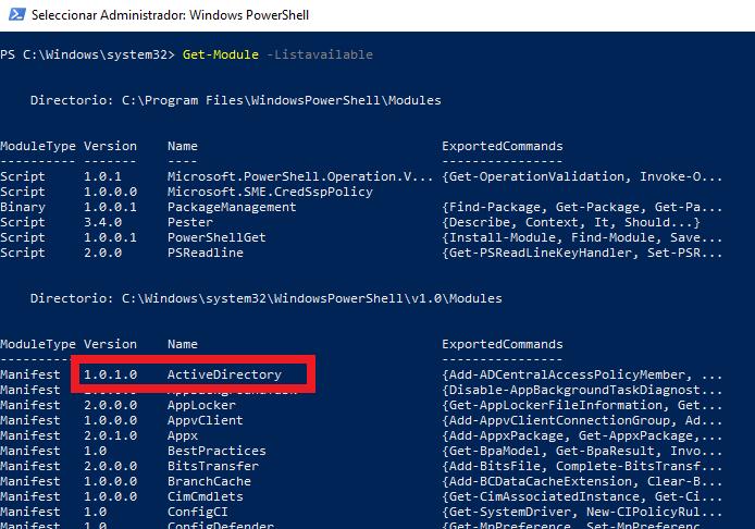 Listar usuarios de un grupo de seguridad en Windows Server 2008 2012 2019 con PowerShell