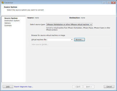 Pasar máquina virtual de VMware Workstation 8 a VMware ESXi 5 con VMware vCenter Converter Standalone