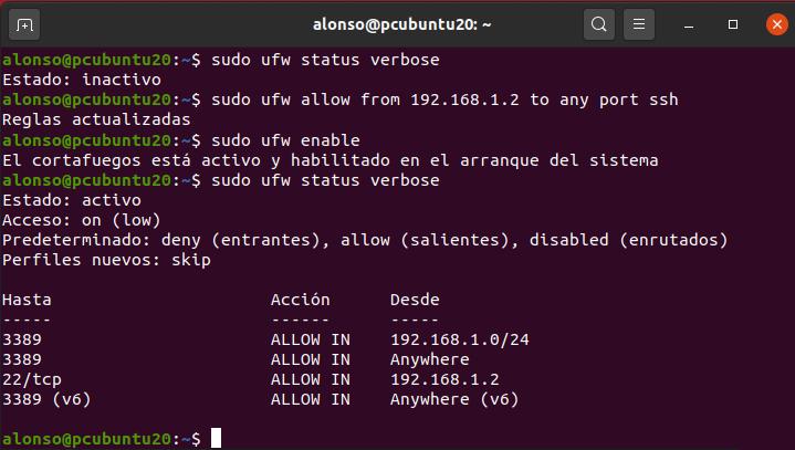 Habilitar acceso por SSH en equipo con Linux ubuntu 20