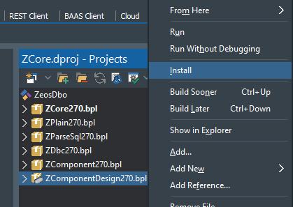 Instalar componentes ZeosLib ZEOSDBO en Embarcadero Delphi 10.3