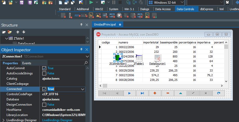 Crear aplicación Delphi 10 con acceso nativo a MySQL/MariaDB con ZeosDBO