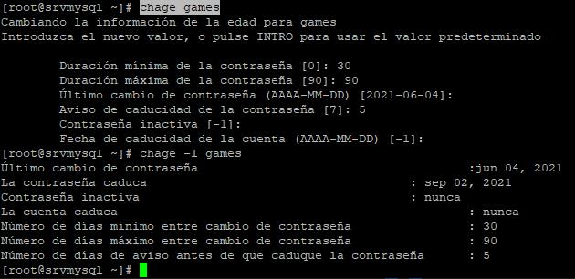Fichero /etc/shadow de contraseñas de usuarios en Linux