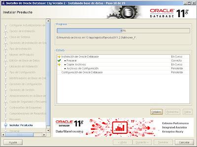 Instalar Oracle 11g x64 en Windows Server 2008 R2 Enterprise x64