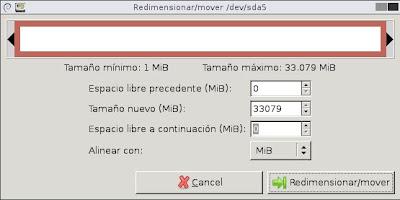 Aumentar tamaño partición raíz máquina virtual Linux VMware Workstation GParted