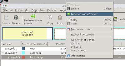 Cambiar tamaño partición / raíz virtual ext4 con GParted en VMware Workstation