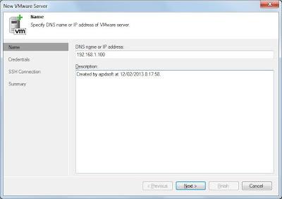 Agregar servidor ESXi a Veeam Backup & Replication