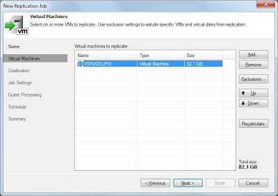 Crear trabajo de réplica de máquina virtual ESXi en Veeam Backup & Replication