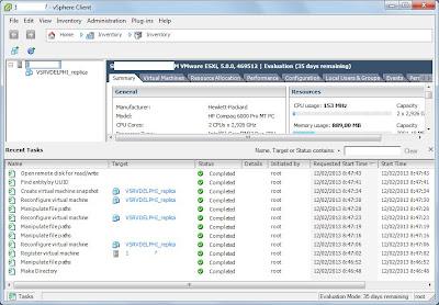Verificación de trabajo de réplica de máquina virtual VMware vSphere Hypervisor ESXi con Veeam Backup & Replication