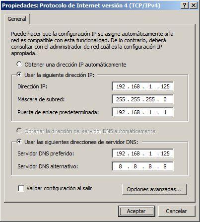 Configuración de red del equipo (IP estática)