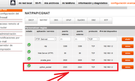 Ejemplo de uso de Socket con Python cliente y servidor