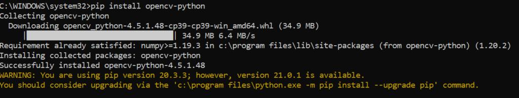 Descargar e instalar librería CV2 en Python
