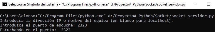 Ejecutar servidor y mantener a la espera de conexión de clientes por sockets con Python