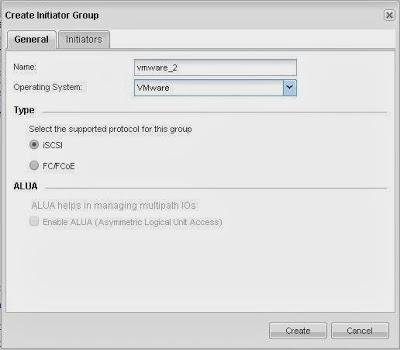 Añadir iniciador en SAN NetApp