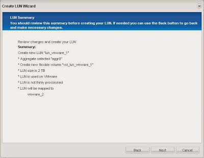 Añadir LUN y volumen en SAN NetApp para uso de VMware ESXi mediante iSCSI