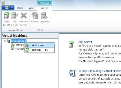 Agregar un nuevo servidor vSphere (ESX, ESXi) para backup y restauración en Veeam Backup