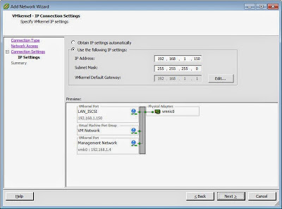Aprovisionamiento de red para iSCSI en VMware ESXi