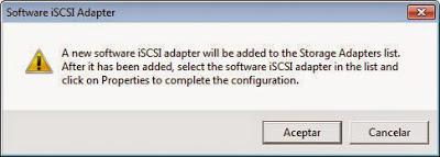 Activación de servicio iSCSI en servidor VMware ESXi