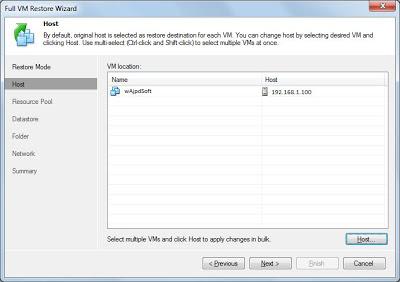 Restaurar copia de seguridad VMware con Veeam Backup & Replication