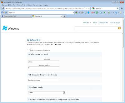 Descarga del fichero ISO de Microsoft Windows 8