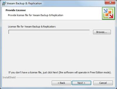Descarga e instalación de Veeam Backup Free Edition for VMware and Hyper-V