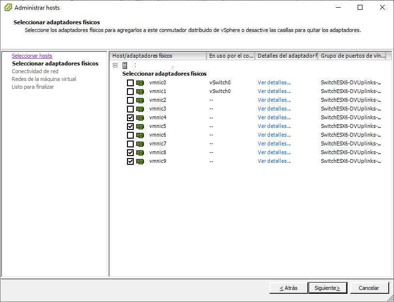 Actualizar VDS Switch virtual de VMware de la versión 5.5 a la versión 6.0